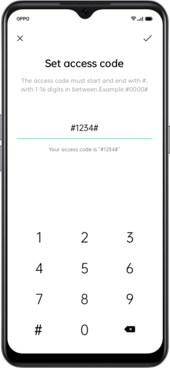 OPPO F17 Set a Privacy Password to lock and hide apps